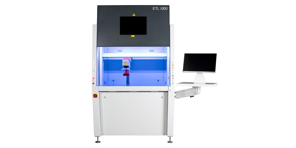 Beschriftungslaser mit 20 Watt Faserlaser - ETL 1200 von EVOTECH