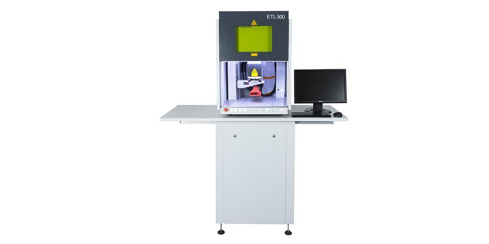 ETL 500 zur Lasergravur und Bauteilbeschriftung von EVOTECH