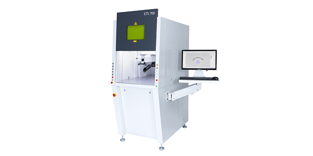 ETL 700 - Laserbeschriften mit 20 Watt Faserlaser